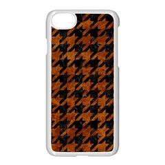 Houndstooth1 Black Marble & Brown Marble Apple Iphone 7 Seamless Case (white)