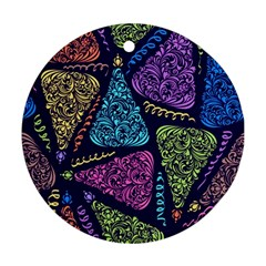 Christmas Patterns Ornament (round)