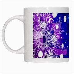 Christmas Snowflake With Shiny Polygon Background Vector White Mugs