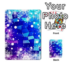 Christmas Snowflake With Shiny Polygon Background Vector Multi-purpose Cards (Rectangle)