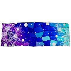 Christmas Snowflake With Shiny Polygon Background Vector Body Pillow Case Dakimakura (two Sides)