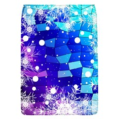 Christmas Snowflake With Shiny Polygon Background Vector Flap Covers (s)