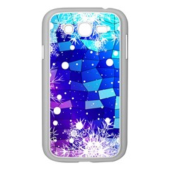 Christmas Snowflake With Shiny Polygon Background Vector Samsung Galaxy Grand Duos I9082 Case (white)