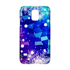Christmas Snowflake With Shiny Polygon Background Vector Samsung Galaxy S5 Hardshell Case