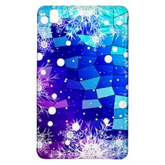 Christmas Snowflake With Shiny Polygon Background Vector Samsung Galaxy Tab Pro 8 4 Hardshell Case