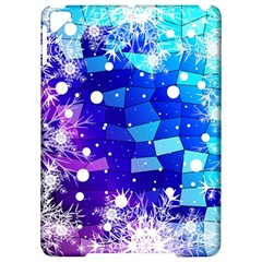 Christmas Snowflake With Shiny Polygon Background Vector Apple Ipad Pro 9 7   Hardshell Case