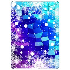 Christmas Snowflake With Shiny Polygon Background Vector Apple iPad Pro 12.9   Hardshell Case