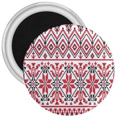 Consecutive Knitting Patterns Vector Background 3  Magnets