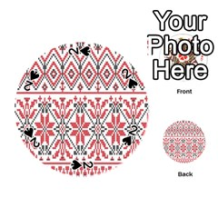 Consecutive Knitting Patterns Vector Background Playing Cards 54 (Round)