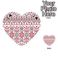 Consecutive Knitting Patterns Vector Background Playing Cards 54 (heart)