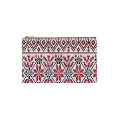 Consecutive Knitting Patterns Vector Background Cosmetic Bag (small)