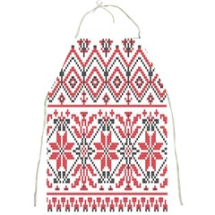 Consecutive Knitting Patterns Vector Background Full Print Aprons
