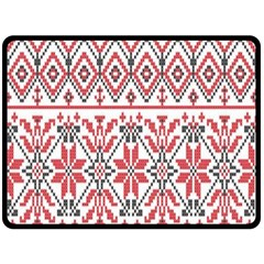 Consecutive Knitting Patterns Vector Background Fleece Blanket (large)