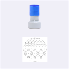 Consecutive Knitting Patterns Vector Background Rubber Round Stamps (Small)