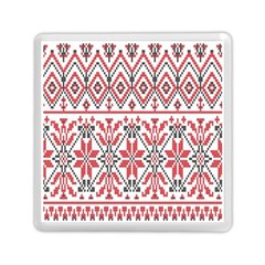 Consecutive Knitting Patterns Vector Background Memory Card Reader (square)