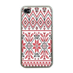 Consecutive Knitting Patterns Vector Background Apple Iphone 4 Case (clear)