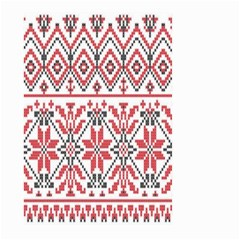 Consecutive Knitting Patterns Vector Background Large Garden Flag (two Sides)