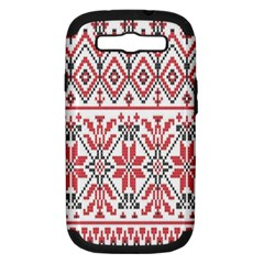 Consecutive Knitting Patterns Vector Background Samsung Galaxy S Iii Hardshell Case (pc+silicone)