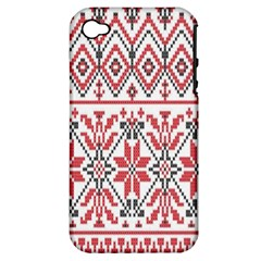 Consecutive Knitting Patterns Vector Background Apple Iphone 4/4s Hardshell Case (pc+silicone)