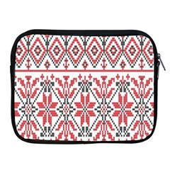 Consecutive Knitting Patterns Vector Background Apple Ipad 2/3/4 Zipper Cases