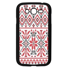 Consecutive Knitting Patterns Vector Background Samsung Galaxy Grand Duos I9082 Case (black)