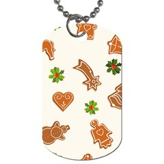 Cute Christmas Seamless Pattern  Dog Tag (two Sides)