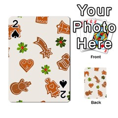 Cute Christmas Seamless Pattern  Playing Cards 54 Designs