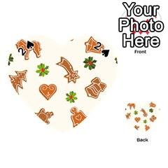 Cute Christmas Seamless Pattern  Playing Cards 54 (Heart)