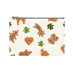Cute Christmas Seamless Pattern  Cosmetic Bag (large)