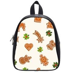 Cute Christmas Seamless Pattern  School Bags (small)