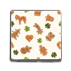 Cute Christmas Seamless Pattern  Memory Card Reader (square)