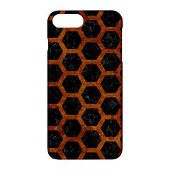 Hexagon2 Black Marble & Brown Marble Apple Iphone 7 Plus Hardshell Case