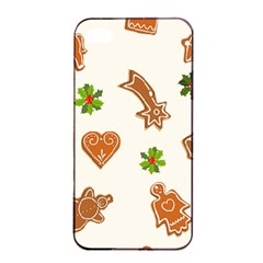 Cute Christmas Seamless Pattern  Apple Iphone 4/4s Seamless Case (black)
