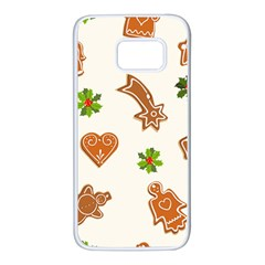 Cute Christmas Seamless Pattern  Samsung Galaxy S7 White Seamless Case
