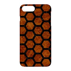 Hexagon2 Black Marble & Brown Marble (r) Apple Iphone 7 Plus Hardshell Case