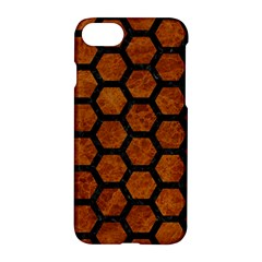 Hexagon2 Black Marble & Brown Marble (r) Apple Iphone 7 Hardshell Case