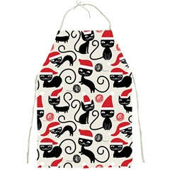 Cute Cat Christmas Seamless Pattern Vector  Full Print Aprons