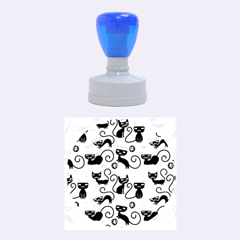 Cute Cat Christmas Seamless Pattern Vector  Rubber Round Stamps (medium)