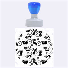 Cute Cat Christmas Seamless Pattern Vector  Rubber Round Stamps (large)