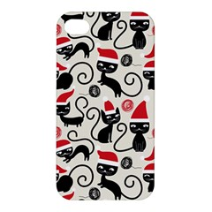 Cute Cat Christmas Seamless Pattern Vector  Apple Iphone 4/4s Hardshell Case