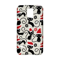 Cute Cat Christmas Seamless Pattern Vector  Samsung Galaxy S5 Hardshell Case