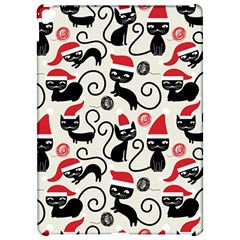 Cute Cat Christmas Seamless Pattern Vector  Apple iPad Pro 12.9   Hardshell Case