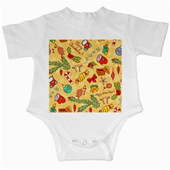 Cute Christmas Seamless Pattern Vector Infant Creepers