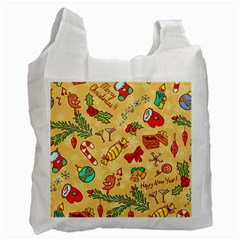 Cute Christmas Seamless Pattern Vector Recycle Bag (one Side)