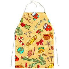 Cute Christmas Seamless Pattern Vector Full Print Aprons