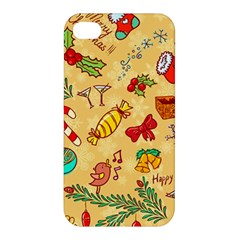 Cute Christmas Seamless Pattern Vector Apple Iphone 4/4s Hardshell Case