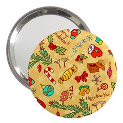 Cute Christmas Seamless Pattern Vector 3  Handbag Mirrors