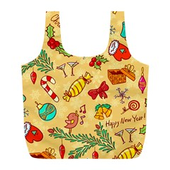 Cute Christmas Seamless Pattern Vector Full Print Recycle Bags (l)