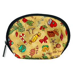 Cute Christmas Seamless Pattern Vector Accessory Pouches (medium)