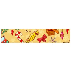 Cute Christmas Seamless Pattern Vector Flano Scarf (small)